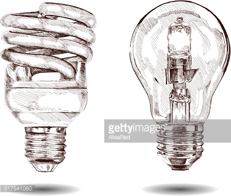 vector hand made lamp. Graphic sketch. Vector illustration