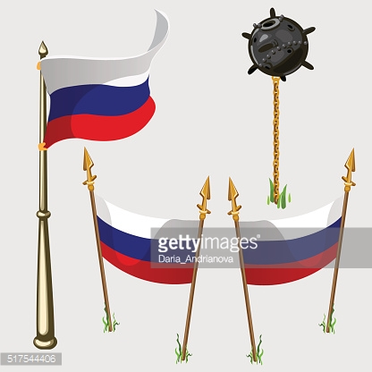 Russia flag icons, vector illustration