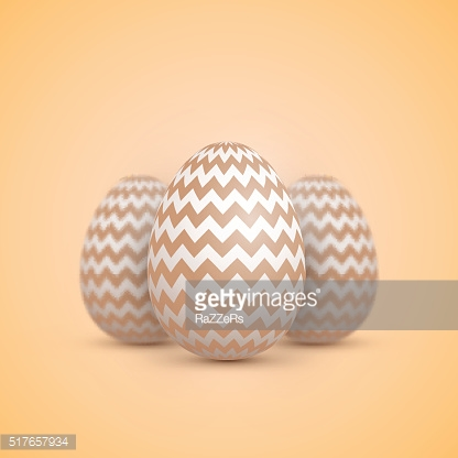 Realistic Vector Easter Egg Icon. Painted Vector Egg Set