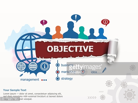 Objective concept and group of people.
