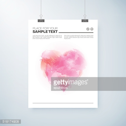 poster abstract watercolor design with heart