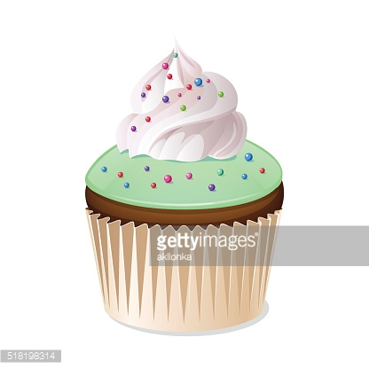 Cupcake icon isolated on a white background.