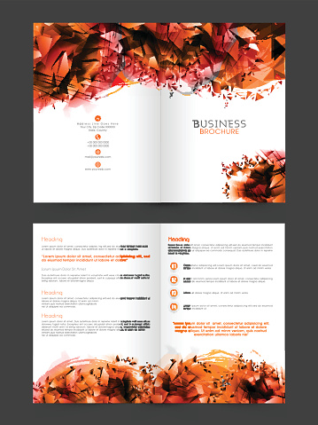 Abstract Brochure, Template or Flyer design.