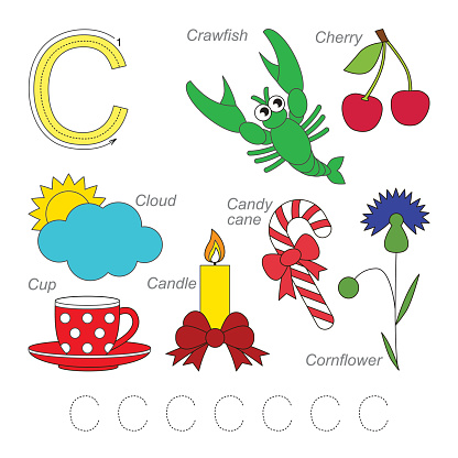 Pictures for letter C