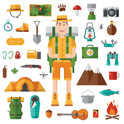 Camping and Hiking Vector Collection