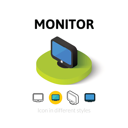 Monitor icon in different style