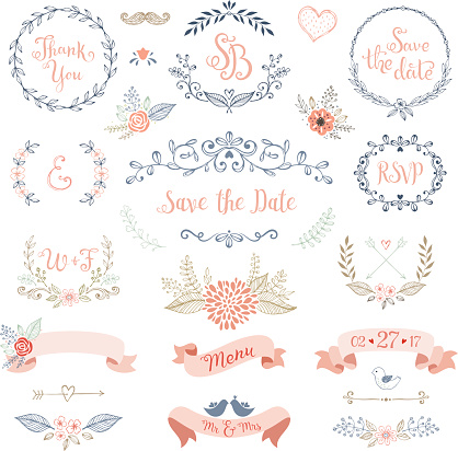Rustic Wedding Design Set