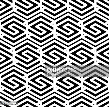 Black and white abstract textured geometric seamless pattern.