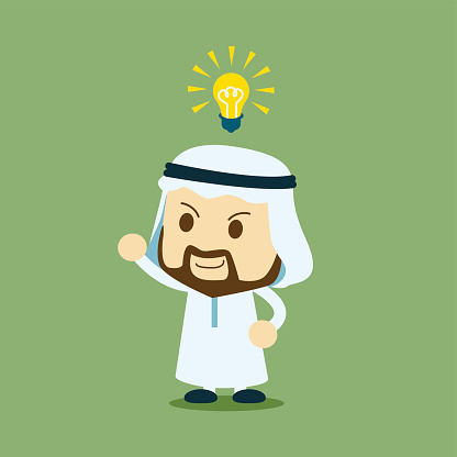 arab businessman get an idea