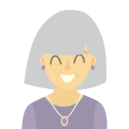 Old woman icon vector.Woman icon illustration