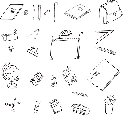 Set  items for office and school