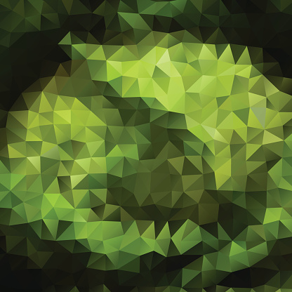 Green color Abstract triangle mosaic background