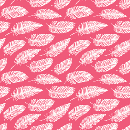 Seamless pattern. Hand drawn vector vintage illustration