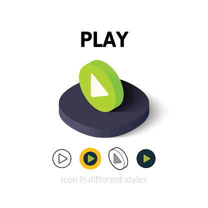 Play icon in different style