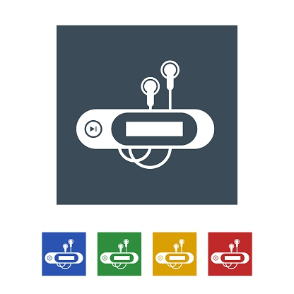 MP3 player Icon Isolated on White Background