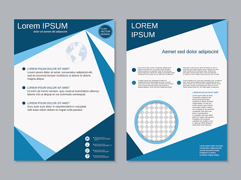 Modern two-sided professional flyer template