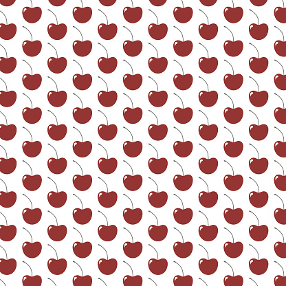 pattern with cherry. Vector illustration.
