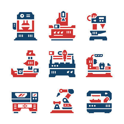 Set color icons of machine tool