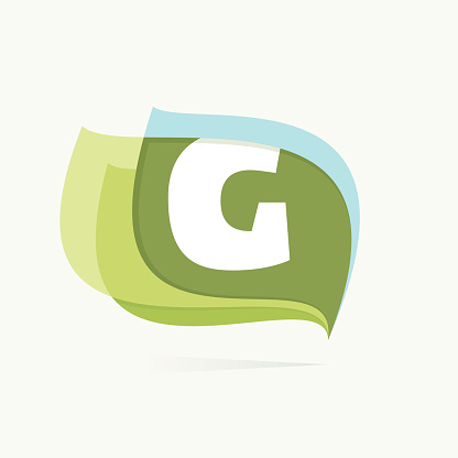 Letter G in leaves or flags icon.