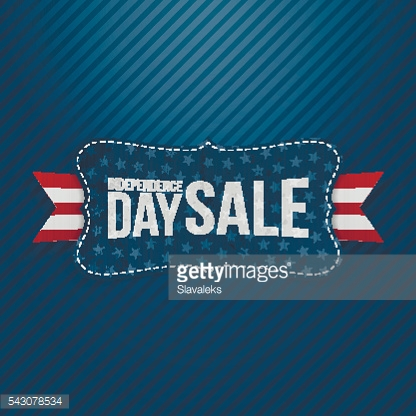 Independence Day Sale patriotic Tag