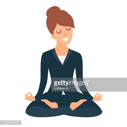 Business woman meditating. Business concept. Concept of calm business