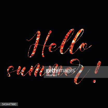 Hello, hand drawn modern brush calligraphy. Lettering trendy glittering background
