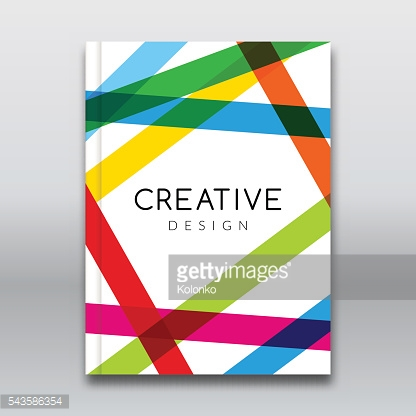 Vector Poster Flyer Template. Abstract colorful stripes Background for Business