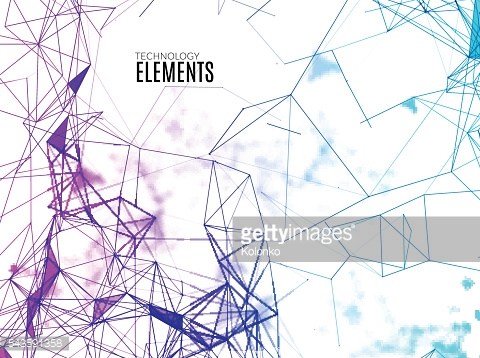 Abstract polygonal techno background. Futuristic style card. Business presentations. Lines