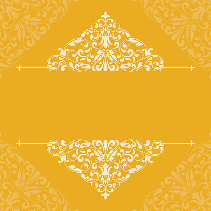 Vintage pattern for invitation or greeting card.