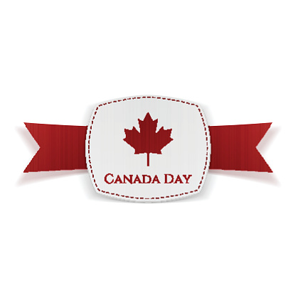 Canada Day festive Banner with Ribbon