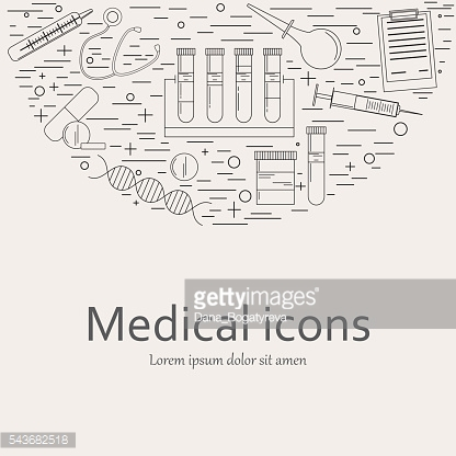 Medical and healthcare design element.