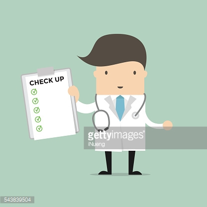 Medical Doctor Holding Check Up Report Document.