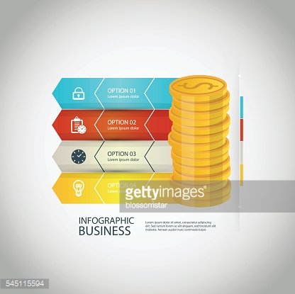 Vector illustration of business infographics options banner