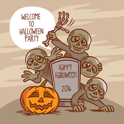 Welcome to Halloween Party. Zombie