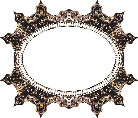 Vintage cards Frame with Floral mandala pattern and ornaments.