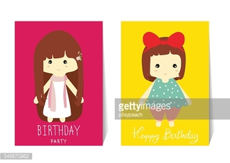 Colorful collection for banners,Flyers,Placards with doll and gi