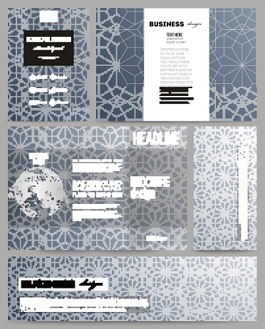 Set of templates for presentation, brochure, flyer or booklet. Abstract