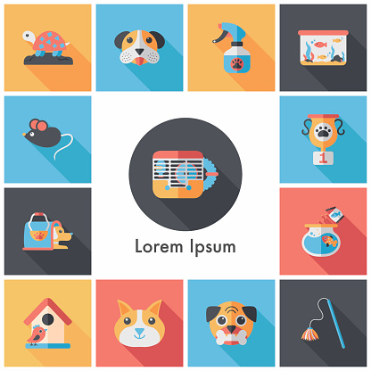 Pet and veterinary icons set