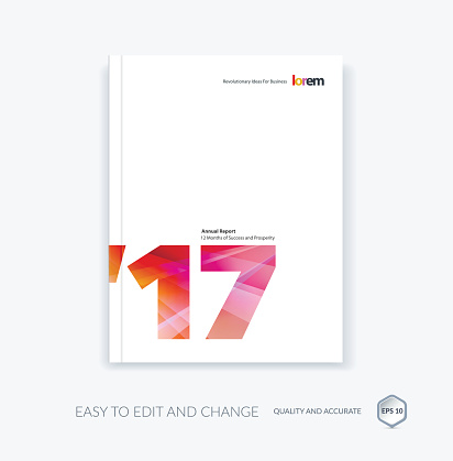 Vector design for cover annual report. Brochure or flyer in