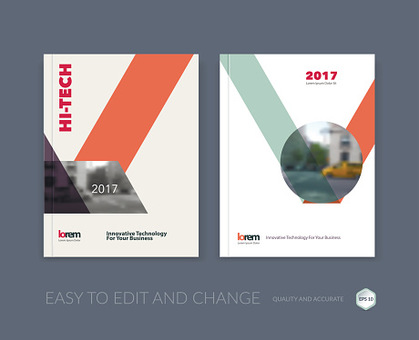 Set of Vector design for Cover Annual Report. Brochure or