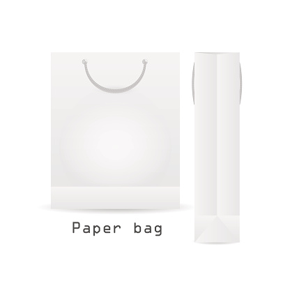 WhitePaper bag with rope