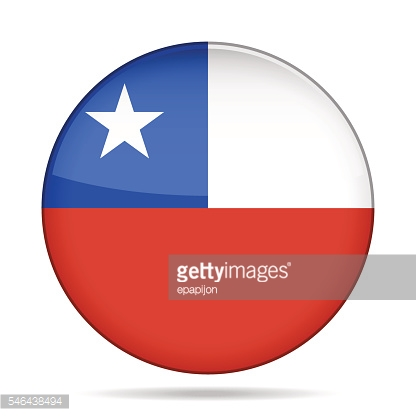 button with flag of Chile