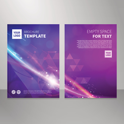 Brochure book abstract vector background design template