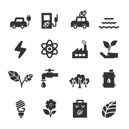 ecology icon set, vector eps10