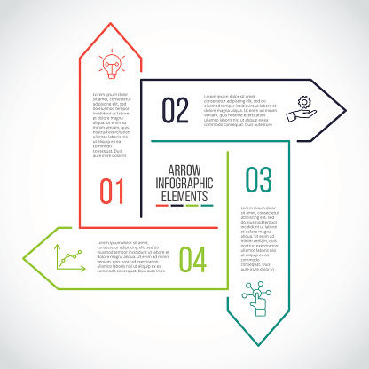 Thin line flat element for infographic.