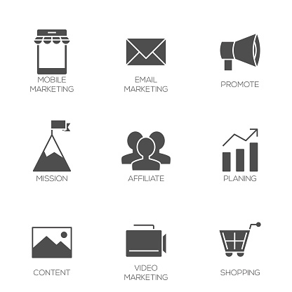 Business marketing icons