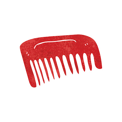 retro cartoon comb