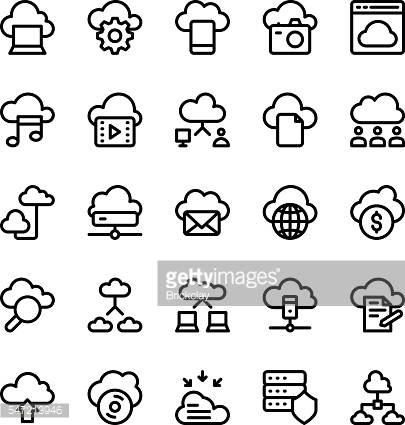 Cloud Computing Vector Icons 1