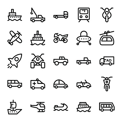 Transport Vector Icons 5