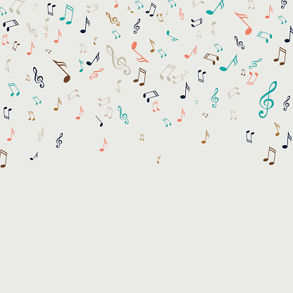 Vector Abstract Background with Music Notes